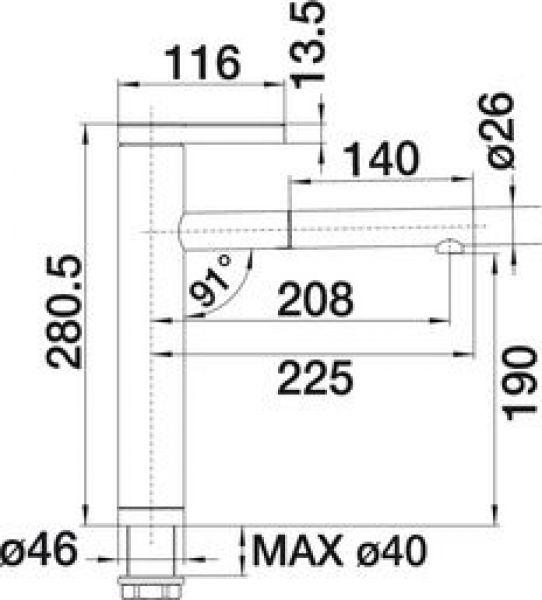 Смеситель для кухни с выдвижным душем BLANCO LINEE-S - 2