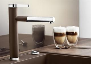 Смеситель для кухни с выдвижным душем BLANCO LINEE-S - 1405