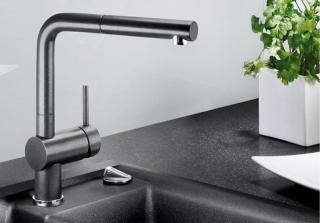 Смеситель для кухни с выдвижным душем BLANCO LINUS-S