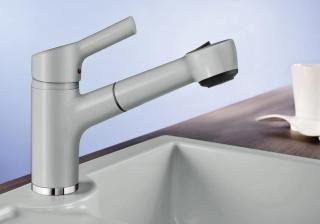Смеситель для кухни с выдвижным душем BLANCO ELIPSO-S II