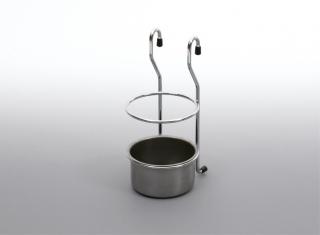 Стакан для столовых приборов матовый хром