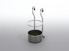 Стакан для столовых приборов матовый хром - 1657
