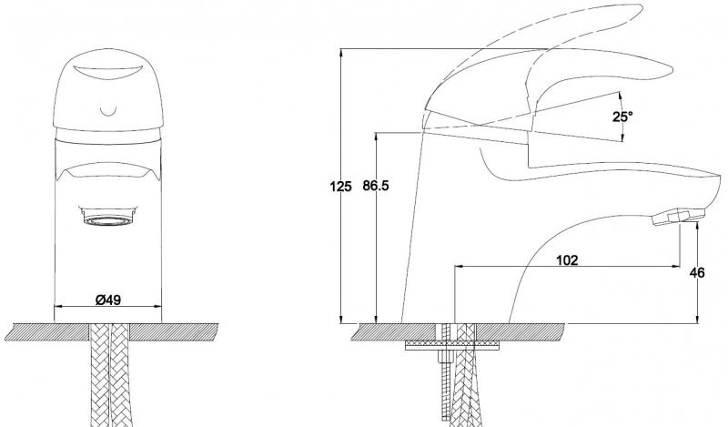 KAISER  Safira  15011  Смеситель для раковины однорычажный  - 1