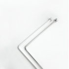 Штанга для ванной комнаты угловая белая   -  Bacchetta - 1760