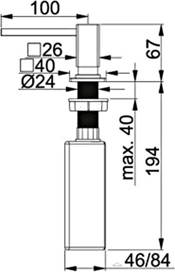 Дозатор встраиваемый  FRANKE  Centinox   - 1