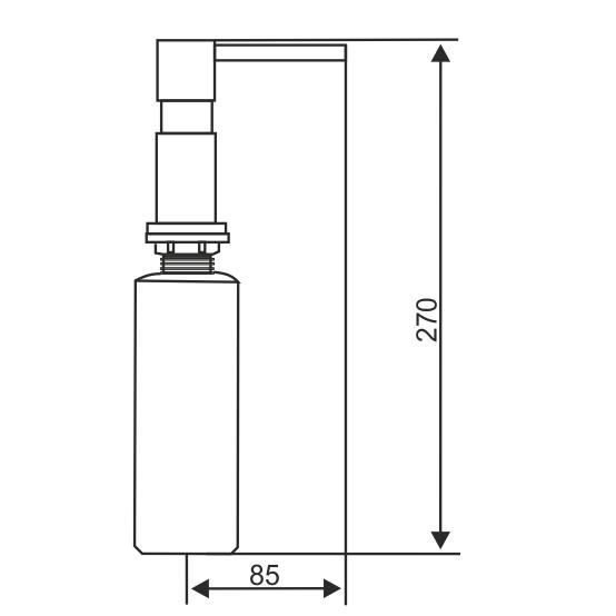 Дозатор встраиваемый  Longran LD0001 - 1