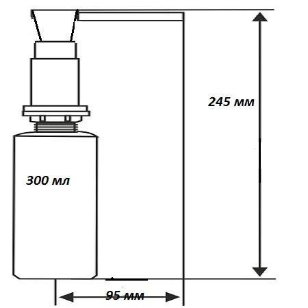 Дозатор встраиваемый  Longran  LD0002 bronze - 1