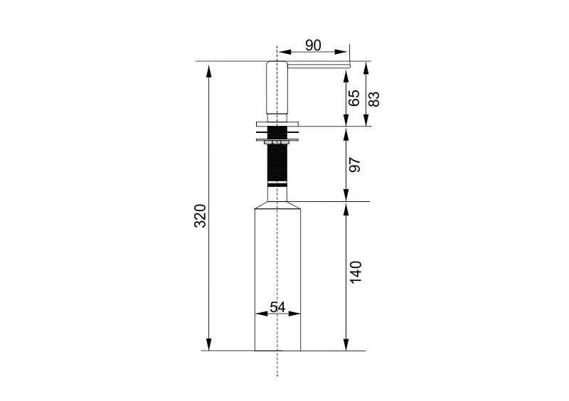 Дозатор встраиваемый  Longran  LD0006 - 1