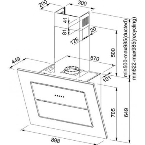 Вытяжка для кухни  Franke  LARGE SCREEN - 1