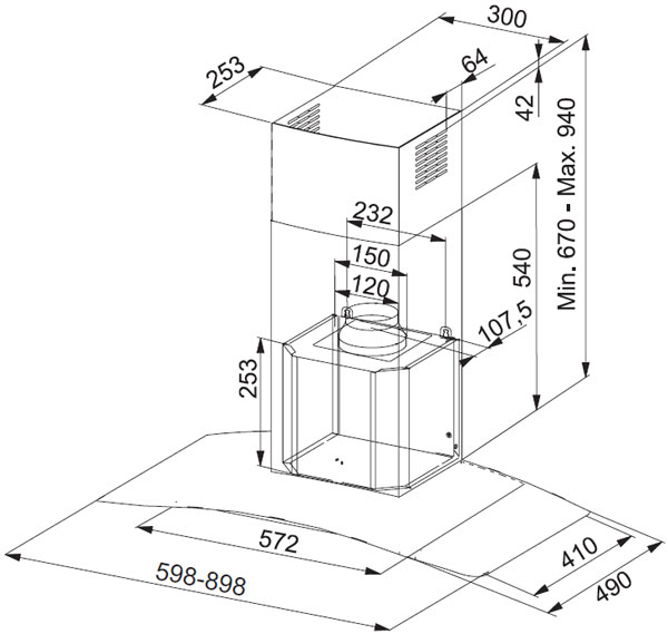 Вытяжка для кухни  Franke  GLASS SOFT  - 2