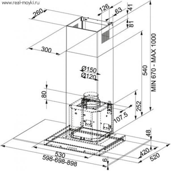 Вытяжка для кухни  Franke  GLASS LINEAR - 2