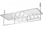 Подвесной бар с потолочным креплением большой хром - 2360