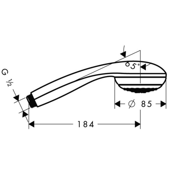 лейка Hansgrohe Crometta 85  1jet, ½ (Германия) - 2