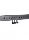 Крючок тройной на рейлинг 70 мм черный бархат - 2539