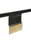 Держатель для ножей с магнитами на рейлинги черный бархат - 2548