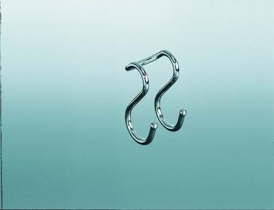 Крючок двойной на рейлинги хром глянец Kessebohmer (Германия) - 1