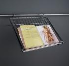 Полка для книг на рейлинги хром глянец Kessebohmer (Германия) - 2576