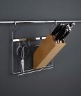 Держатель для ножей на рейлинги матовый хром Kessebohmer (Германия) - 2606
