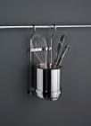 Стакан для столовых приборов на рейлинги матовый хром Kessebohmer (Германия) - 2607