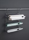 Держатель для бумажного полотенца, фольги и пищевой пленки матовый хром Kessebohmer (Германия) - 2609