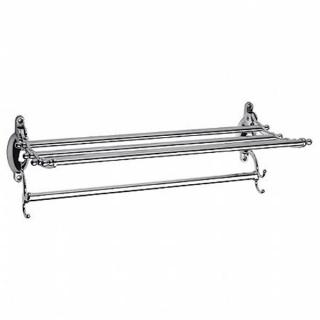Полка - полотенцедаржатель с крючками (откидная) Frap F807