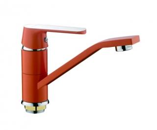 Смеситель для раковины (кухонной мойки) Frap 4532 (оранжевый/хром)