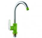 Смеситель для кухни с гайкой (зеленый /хром) Frap 4033 - 2811