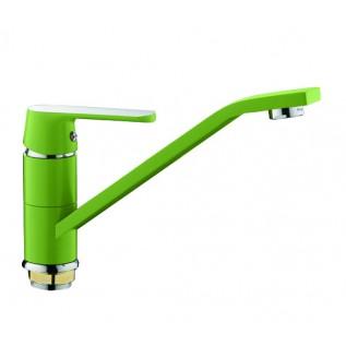 Смеситель для кухни (зеленый /хром) Frap 4933