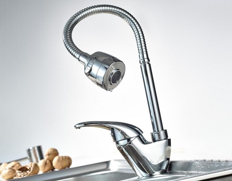 Смеситель для кухни с гибким изливом Frap 4303 - 3