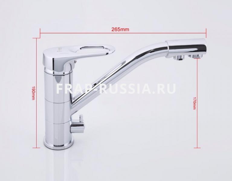 Смеситель для кухни с переключением на питьевую воду, однорычажный Frap 4304 - 1