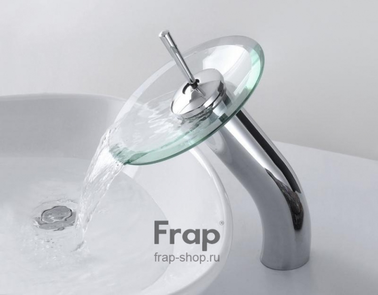 Смеситель каскадный для раковины водопад (высокий) Frap 1055-3 - 3