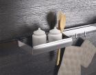 Полка универсальная на рейлинги модерн нержавеющая сталь (250 х 110 мм) Barra Lemi - 2882