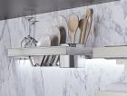 Полка для посуды большая на рейлинги модерн нержавеющая сталь Barra Lemi - 2897