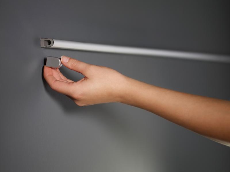 Рейлинг для кухни 90 см модерн (алюминий и хром матовый) Linero 2000 Kessebohmer - 4