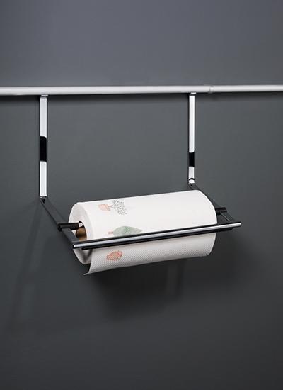 Держатель для бумажных полотенец на рейлинги модерн хром матовый Linero 2000 Kessebohmer - 1