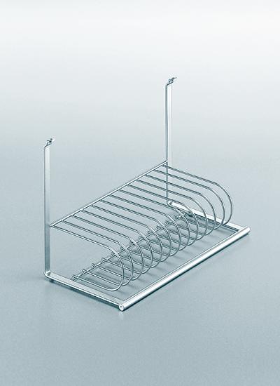 Сушка для посуды на рейлинги модерн хром матовый Linero 2000 Kessebohmer - 2