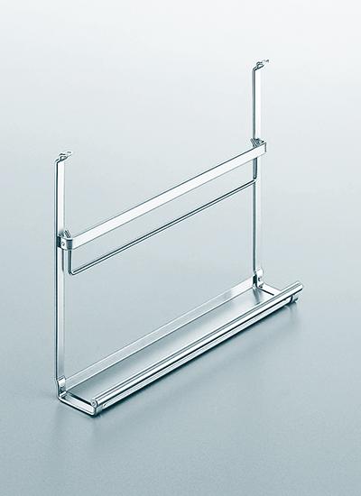 Полка для книг на рейлинги модерн хром матовый Linero 2000 Kessebohmer - 2