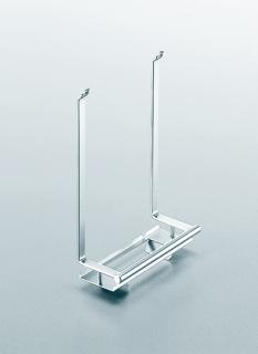 Держатель для фильтров на рейлинги модерн хром матовый Linero 2000 Kessebohmer