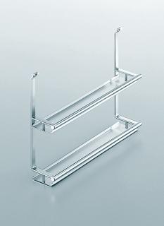Полка двойная для специй на рейлинги модерн хром матовый Linero 2000 Kessebohmer
