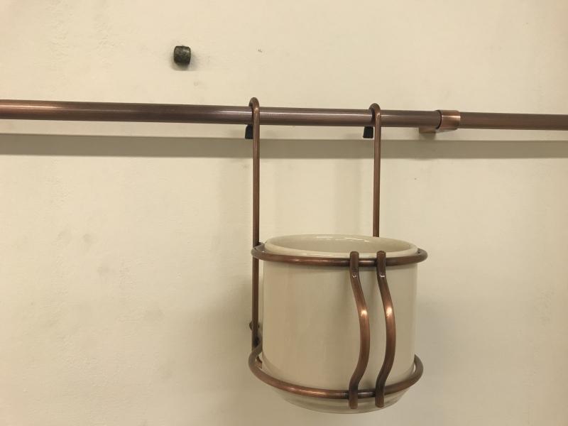 Стакан керамический для столовых приборов на рейлинги старая медь  Simonetti (Италия) - 1