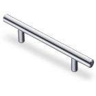 Ручка рейлинг 128 мм, отделка хром - 3030