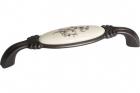 Ручка скоба 128 мм, отделка бронза темная и керамика Mobilclan (Италия) - 3120