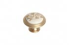 """Ручка кнопка, отделка золото матовое """"Милан"""" и керамика Mobilclan (Италия) - 3127"""