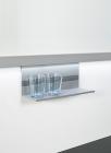 Полка универсальная, низкая на рейлинги модерн серый титан Mosaiq. Kessebohmer (Германия) - 3181