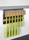Держатель для ножей магнитный, дуб на рейлинги модерн черный графит Mosaiq. Kessebohmer (Германия) - 3217