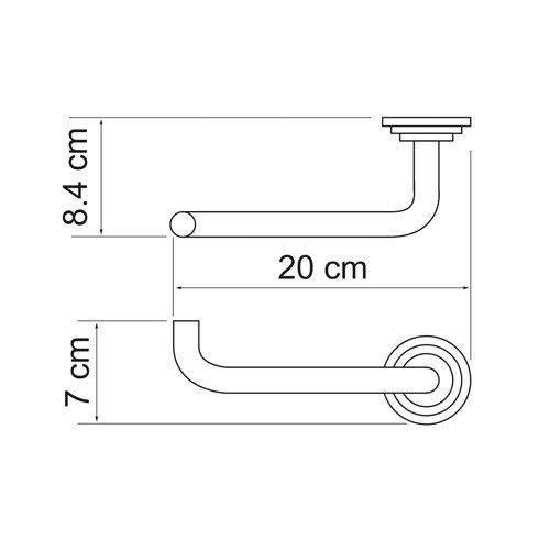 Держатель туалетной бумаги Isar K-7300 Wasserkraft - 3