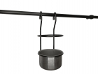 Стакан для столовых приборов 112х125х235 черный матовый Rejs (Польша) - 3475