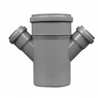Крестовина из полипропилена 45 град. для канализационных систем SINICON - 3647
