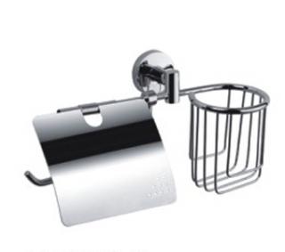 Держатель туалетной бумаги FRAP 1703-1,  с подставкой для освежителя - 958
