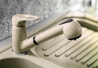Смеситель для кухни с выдвижным душем BLANCO WEGA - S - 1356
